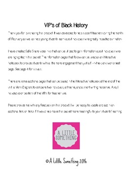 VIP's of Black History Month: Interactive Notebook
