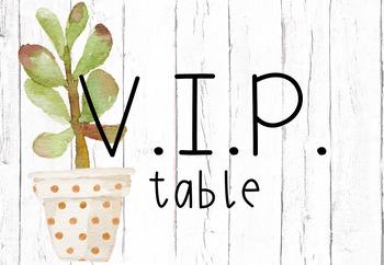 VIP table place mats- Succulent/Tropical Theme