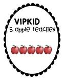 VIPKID 5 apple teacher name sign