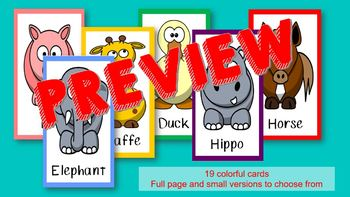 VIPKID Animal Props, Flash Cards, or Rewards VIP KID