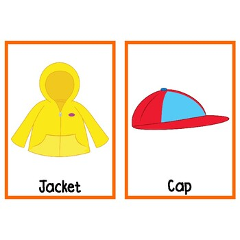 VIPKID Clothes for the Seasons Flashcards (Level 3, Unit 2)