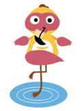 VIPKID Dino Dress Up - Jungle Zoo Animal - Flamingo