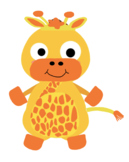 VIPKID Dino Dress UP Giraffe - Jungle Zoo Animal Reward System