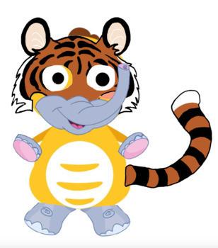 VIPKID Dino Dress UP Jungle Zoo Animals Reward Systems Bundle 1