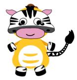 VIPKID Dino Dress Up - Jungle Zoo Animal - Zebra