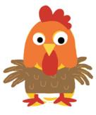 VIPKID Dino Dress Up - Farm Animal - Chicken