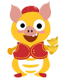 VIPKID Dino Dress Up Chinese New Year Clothes