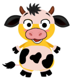 VIPKID Dino Dress Up - Farm Animal - Cow