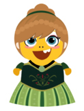VIPKID Dino Dress Up - Disney Princess - Anna