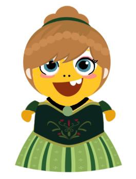 VIPKID Dino Dress Up - Disney Princess - Anna