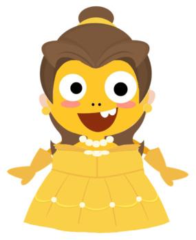 VIPKID Dino Dress Up - Disney Princess - Belle
