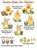 VIPKID Dino Dress Up - Easter Bundle - Bunny, Chick, Duck & More - Reward System