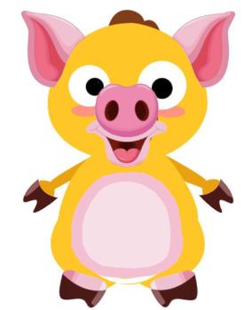 VIPKID Dino Dress Up - Farm Animal - Pig