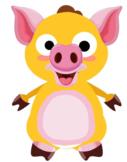 VIPKID Dino Dress Up  Farm Animal  Pig