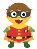 VIPKID Dino Dress Up - Super Hero Boys - Robin