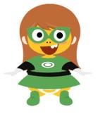 VIPKID Dino Dress Up - Super Hero Girls - Green Lantern