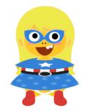 VIPKID Dino Dress Up - Super Hero Girls - Miss America
