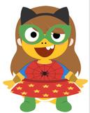 VIPKID Dino Dress Up - Super Hero Girls - Reward System Bundle 1