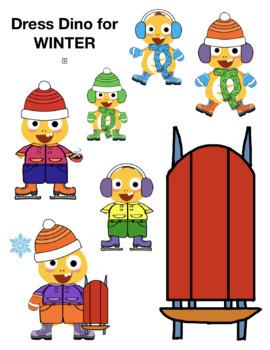 VIPKID Dino Dress Up - Winter Clothes