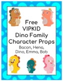 VIPKID Dino Family  Props - Free
