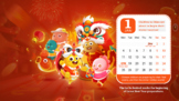 VIPKID Dino Calendar for Jan-April