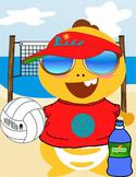 VIPKID Dress Up Dino Add-On (Volleyball)
