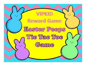 VIPKID Easter Peeps Tic Tac Toe Reward Game