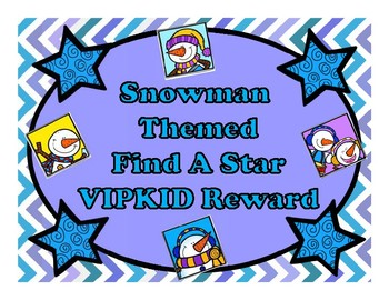 VIPKID FIND A STAR REWARD GAME SNOWMAN EDITION