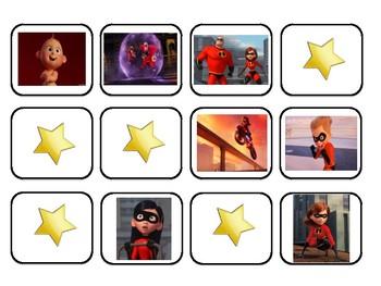 VIPKID Find-A-Star Incredibles Freebie