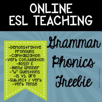 Online ESL Teaching Grammar (VIPKID) - Freebie!!!