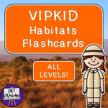 VIPKID Habitats Flashcards Pack