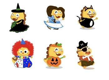 VIPKID Halloween Dinos PNG