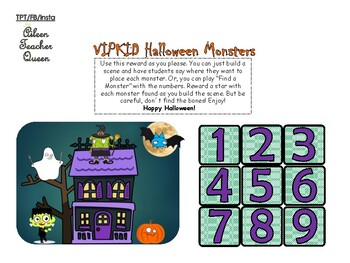VIPKID Halloween Monsters and Haunted House Reward