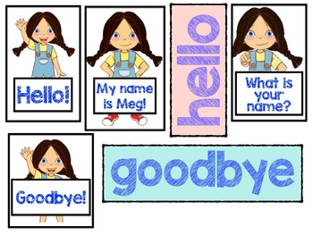 picture relating to Vipkid Mike and Meg Printable named VIPKID Hi there Goodbye Props