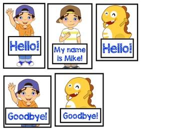 photo regarding Vipkid Mike and Meg Printable named VIPKID Hi there Goodbye Props