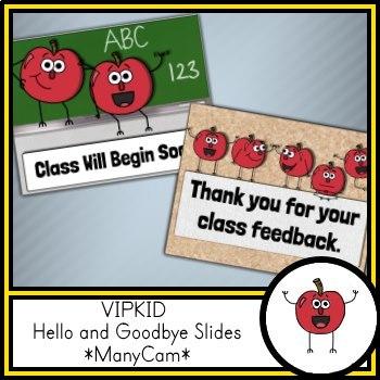 VIPKID Hello and Goodbye Slides *ManyCam*