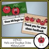 Online ESL Classroom Hello and Goodbye Slides (ManyCam/CamTwist)