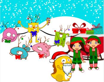 VIPKID Holiday Gang Clip Art