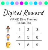 VIPKID Interactive Digital Rewards: Meg, Mike Dino Tic Tac Toe