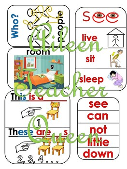 VIPKID L2-U4 Family and Home MINIMALIST/NO MESS/TRAVEL SIZE cards