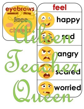 (NON-INTERACTIVE)VIPKID L2-U7 Face and Feelings MINIMALIST/NO MESS flashcards