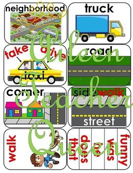 (NON-INTERACTIVE)VIPKID L2-U9 Neighborhood/Transportation Flash Cards