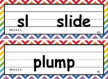 VIPKID LEVEL 4 PHONICS WORD CARDS
