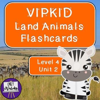 VIPKID Land Animals Flashcards (Level 4 Unit 2)