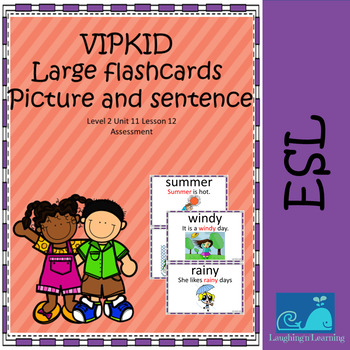 VIPKID Large Flashcards L2U11L12 Picture and Sentence