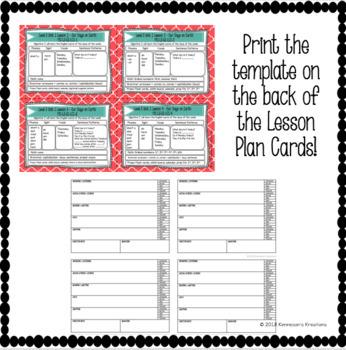 Online Esl Teaching Lesson Plan Card Feedback Template Vipkid Tpt