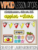 VIPKID Lesson Props- Apples and Stars Classroom Decor Kit