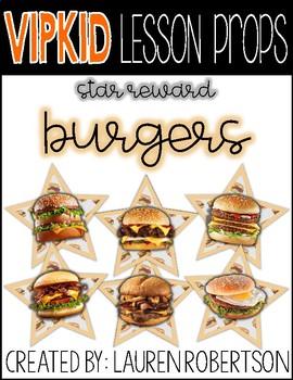 VIPKID Lesson Props- Burger Stars