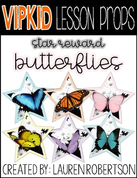 VIPKID Lesson Props- Butterfly Stars
