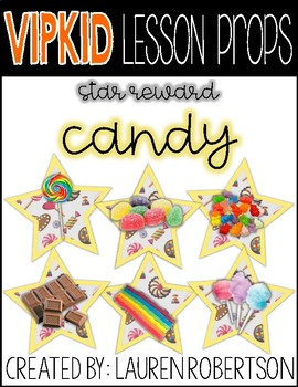 VIPKID Lesson Props- Candy Stars